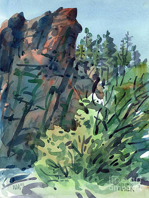 Canyons Painting - Pecos Canyon by Donald Maier