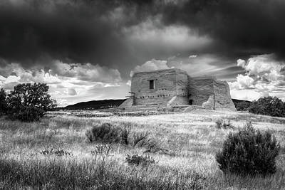 Photograph - Pecos National Historical Park In Bw by James Barber