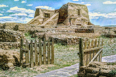 Photograph - Pecos Pueblo Church by Jean OKeeffe Macro Abundance Art