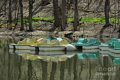 Photograph - Pedal Boats On The Lake by Paul Ward