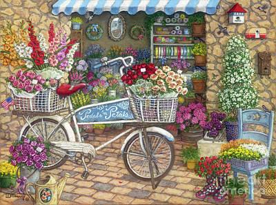 Painting - Pedals N Petals by Janet Kruskamp
