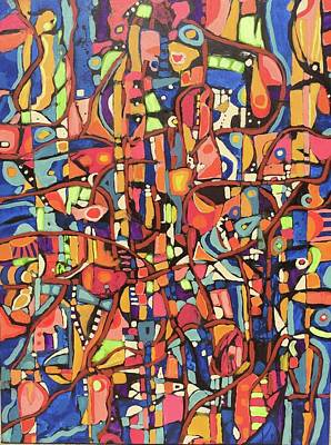 Painting - Pedazos # 6 by Jeffrey Davies