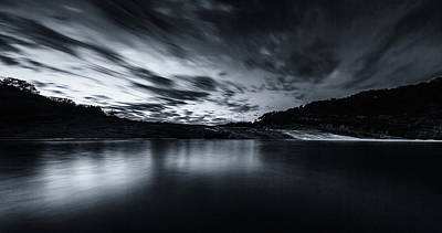 Photograph - Peddernales Falls Long Exposure Black And White #1 by Micah Goff