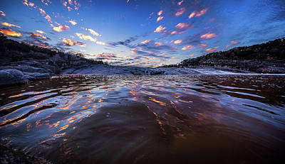 Photograph - Peddernales Falls Sunset #1 by Micah Goff
