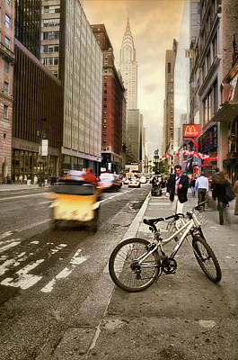 Photograph - Peddle It Manhattan by Diana Angstadt