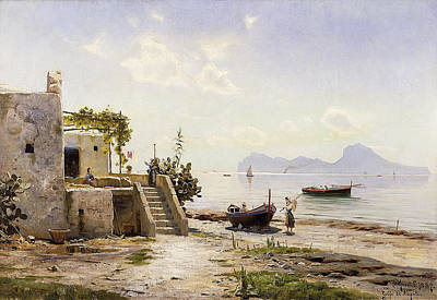 Capri Painting - Peder Mork Monsted by MotionAge Designs