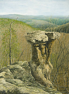 Painting - Pedestal Rock by Mary Ann King