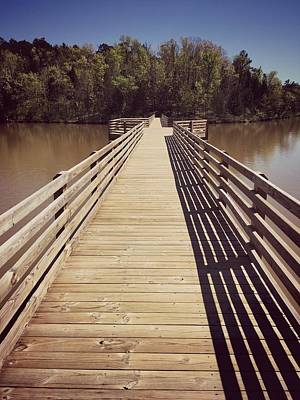 Photograph - Pedestrian Bridge At Chester State Park by Kelly Hazel