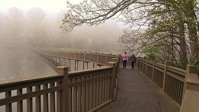 Photograph - Pedestrian Bridge Early Morning by CK Brown