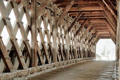 Photograph - Pedestrian Bridge Guelph Ontario by Nick Mares