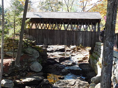 Photograph - Pedestrian Covered Bridge by Catherine Gagne