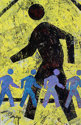 Painting - Pedestrian Crossing by John Dyess