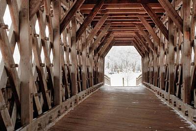 Photograph - Pedestrian Lattice Bridge by Nick Mares