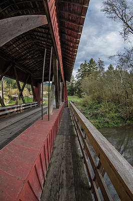 Photograph - Pedestrian Path On Covered Bridge by Greg Nyquist