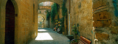 Umbria Photograph - Pedestrian Walkway, Orvieto, Umbria by Panoramic Images