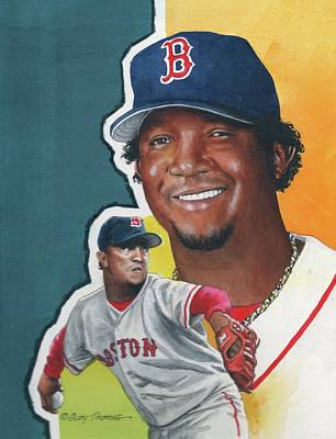 Baseball Painting - Pedro Martinez by Gary Thomas