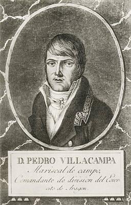 Pedro Villacampa Y Maza De Lizana, 1774 Art Print by Vintage Design Pics