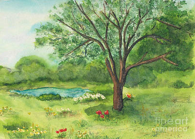 Art Print featuring the painting Pedro's Tree by Vicki  Housel