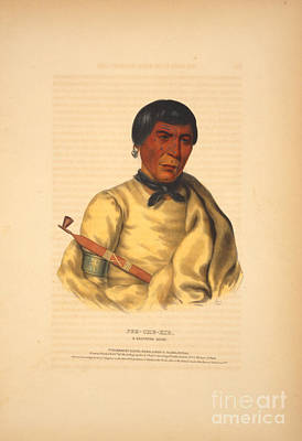 Painting - Pee-che-kir A Chippewa Chief by Celestial Images