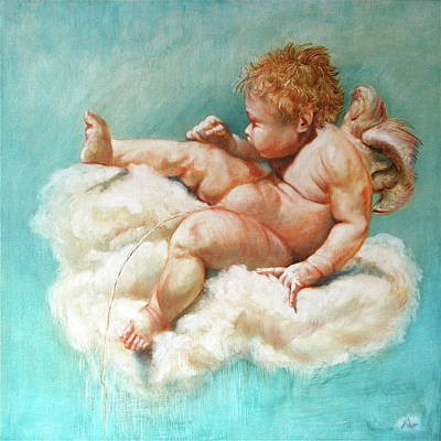 Boy Peeing Painting - Pee Like An Angel by Isabel Mahe