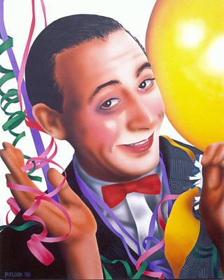 Pee Wee Herman Painting - Pee Wee by Randy Flook