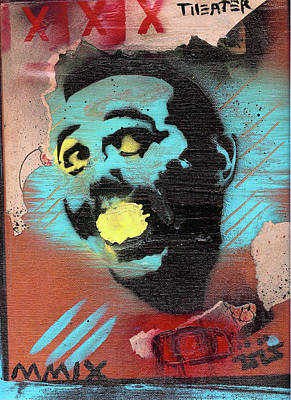 Stencil Art Painting - Pee Wee's Big Adventure by Robert Wolverton Jr