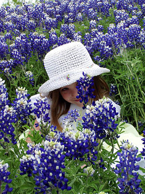 Photograph - Peek-a-bluebonnet by Joy Tudor