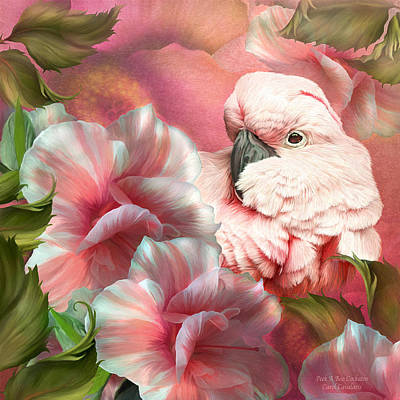 Parrot Art Mixed Media - Peek A Boo Cockatoo by Carol Cavalaris