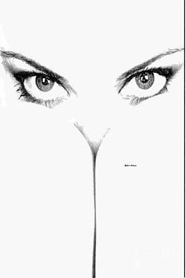 Digital Art - Peek A Boo Female Sketch by Rafael Salazar