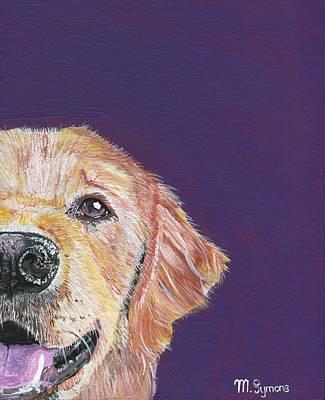 Labrador Retreiver Painting - Peek A Boo by Melissa Symons