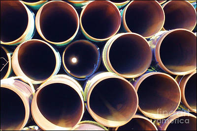Photograph - Abstract Peek A Boo Pipes by Roberta Byram