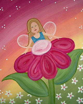 Fairy Painting - Peek A Boo by Samantha Shirley