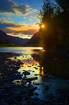 Photograph - Peek-a-boo Sunset On The Similkameen by Tara Turner