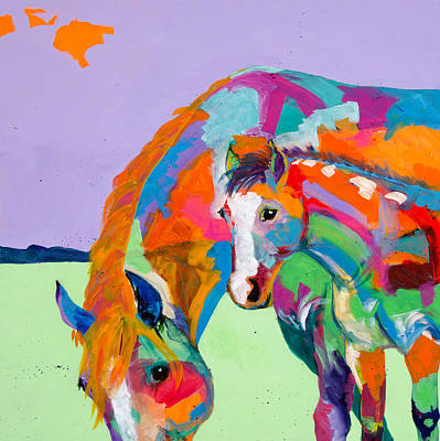 Baby Horse Painting - Peek A Boo by Tracy Miller