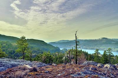 Skaha Lake Photograph - Peek-a-boo View Of Skaha Lake by Tara Turner