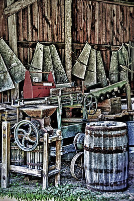 Photograph - Peek Inside The Barn by Pat Cook