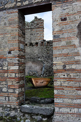 Photograph - Peek Into The Past - Pompeii by Debra Martz