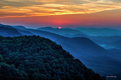 Photograph - Peeking Over Blue Ridges Pretty Place Chapel Overlook Art by Reid Callaway