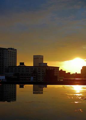 Csu Photograph - Peeking Sun by Tom Kilbane