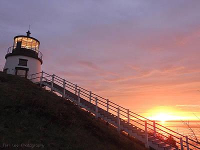 Photograph - Peeking Sunrise by Teri Ridlon