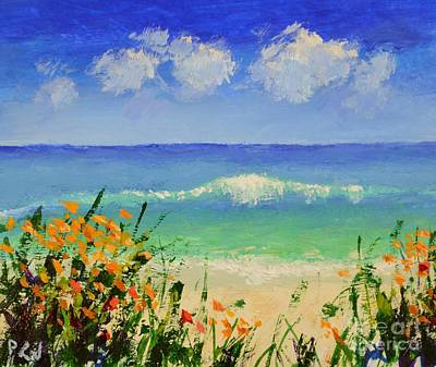 Ten Commandments Painting - Flowers On The Seashore  by Philip Jones