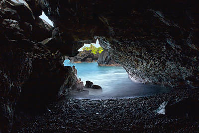 Art Print featuring the photograph Peeking Through The Lava Tube by Susan Rissi Tregoning