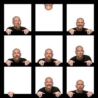 Selfportrait Photograph - Peeks by Petri Damsten