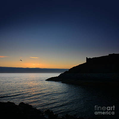 Photograph - Peel Castle Sunset  by Paul Davenport