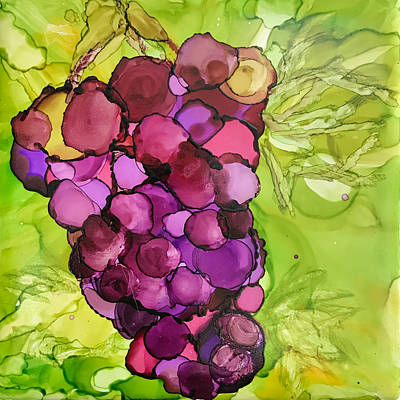 Ceramic Art - Peel Me A Grape by Susi Schuele