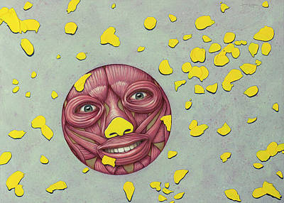 Painting - Peeled Happy Face by James W Johnson
