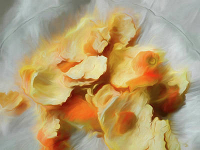 Mixed Media - Peeled Orange Composition 1 by Lynda Lehmann