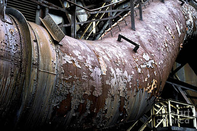 Photograph - Peeling Away At The Steel Mill by John Rizzuto