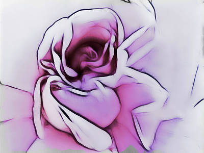 Digital Art - Peeling Back The Petals by Leslie Montgomery