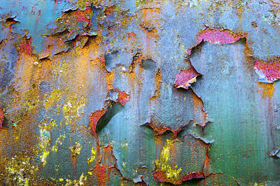 Peeling Paint And Rust Textures 135 Art Print